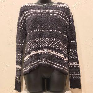 American Eagle Womens Medium Fluffy Gray Sweater